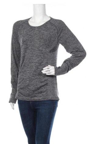 Дамска спортна блуза, Размер L, Цвят Сив, Полиамид, полиестер, еластан, Цена 12,97лв.