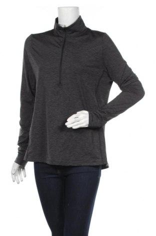 Дамска спортна блуза, Размер XL, Цвят Сив, Полиестер, еластан, Цена 16,75лв.