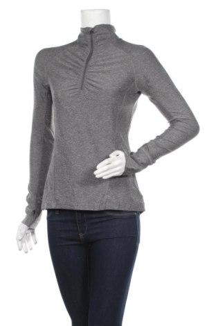 Дамска спортна блуза Champion, Размер XS, Цвят Сив, 52% полиестер, 44% полиамид, 4% еластан, Цена 13,23лв.
