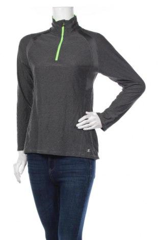 Дамска спортна блуза Champion, Размер S, Цвят Сив, 90% полиестер, 10% еластан, Цена 15,17лв.