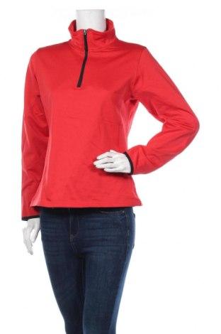 Дамска спортна блуза Crane, Размер M, Цвят Червен, Полиестер, еластан, Цена 10,97лв.