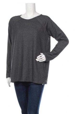 Дамска спортна блуза Danskin, Размер XL, Цвят Сив, 54% памук, 41% полиестер, 5% еластан, Цена 16,54лв.