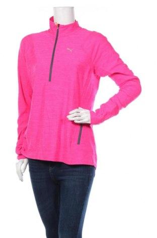 Дамска спортна блуза PUMA, Размер L, Цвят Розов, 92% полиестер, 8% еластан, Цена 30,71лв.