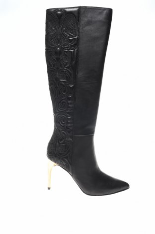 Дамски ботуши BCBG Max Azria, Размер 35, Цвят Черен, Естествена кожа, Цена 259,17лв.