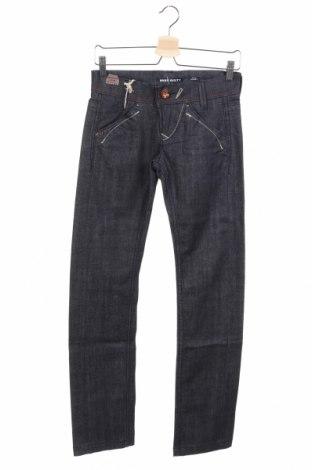 Дамски дънки Miss Sixty, Размер XS, Цвят Син, 98% памук, 2% еластан, Цена 23,93лв.