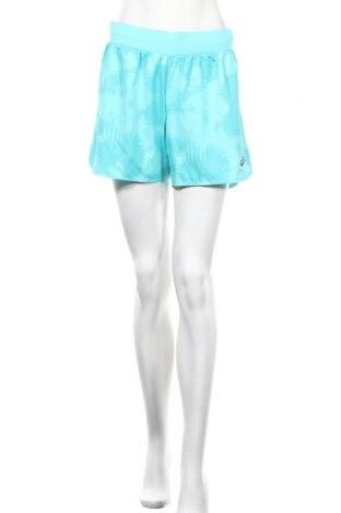 Дамски къс панталон ASICS, Размер M, Цвят Син, Полиестер, Цена 28,98лв.