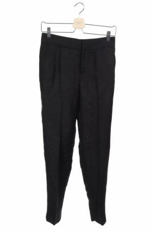 Dámské kalhoty  Zara, Velikost XS, Barva Černá, 54% len, 46% viskóza, Cena  132,00Kč