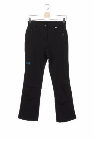 Дамски панталон за зимни спортове Millet, Размер XS, Цвят Черен, 82% полиестер, 12% полиуретан, 6% еластан, Цена 121,37лв.