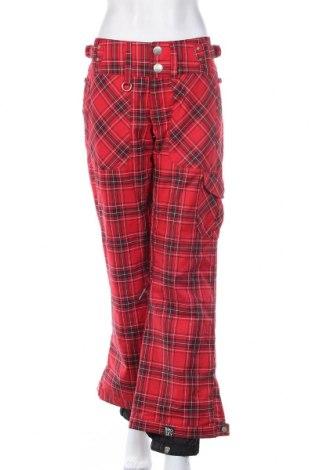 Дамски панталон за зимни спортове Roxy, Размер S, Цвят Червен, 65% полиестер, 35% памук, Цена 38,75лв.