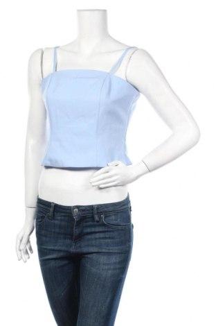 Γυναικείο αμάνικο μπλουζάκι Fashion Union, Μέγεθος M, Χρώμα Μπλέ, 98% πολυεστέρας, 2% πολυαμίδη, Τιμή 6,20€