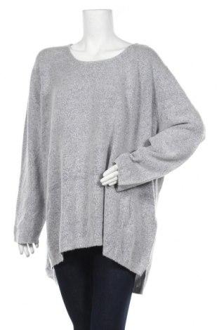 Дамски пуловер Bpc Bonprix Collection, Размер 5XL, Цвят Сив, 75% полиакрил, 22% полиестер, 3% еластан, Цена 23,94лв.