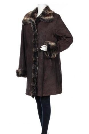 Дамско кожено палто Arma, Размер XL, Цвят Кафяв, Естествена кожа, Цена 105,30лв.
