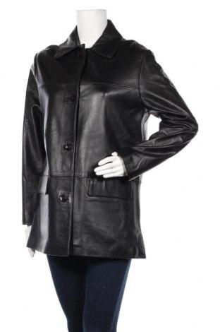 Дамско кожено яке, Размер L, Цвят Черен, Естествена кожа, Цена 51,35лв.