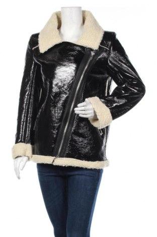 Дамско кожено яке Na-Kd, Размер S, Цвят Черен, Еко кожа, Цена 47,04лв.