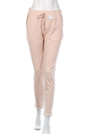 Дамско спортно долнище Kiabi, Размер M, Цвят Розов, 64% памук, 30% полиестер, 6% метални нишки, Цена 30,87лв.