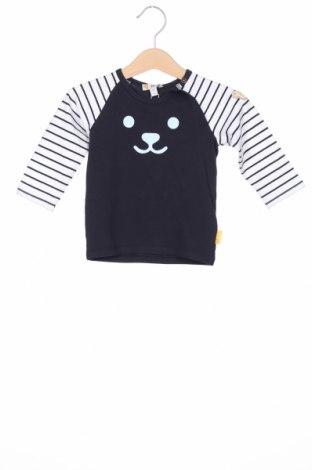 Детска блуза Steiff, Размер 9-12m/ 74-80 см, Цвят Син, 95% памук, 5% еластан, Цена 15,95лв.