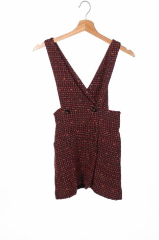 Детска рокля Zara Kids, Размер 8-9y/ 134-140 см, Цвят Червен, 63% памук, 27% полиестер, 9% акрил, Цена 32,45лв.