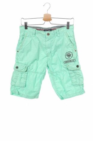Детски къс панталон Cars Jeans, Размер 15-18y/ 170-176 см, Цвят Зелен, Памук, Цена 4,32лв.