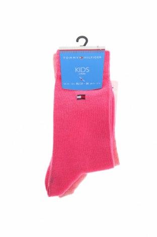 Комплект Tommy Hilfiger, Размер 5-6y/ 116-122 см, Цвят Розов, 78% памук, 21% полиамид, 1% еластан, Цена 15,60лв.