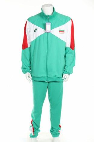 Мъжки спортен комплект ASICS, Размер 3XL, Цвят Зелен, Полиестер, Цена 96,33лв.