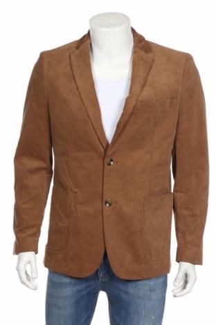 Мъжко сако Hampton Republic, Размер L, Цвят Кафяв, 98% памук, 2% еластан, Цена 15,70лв.