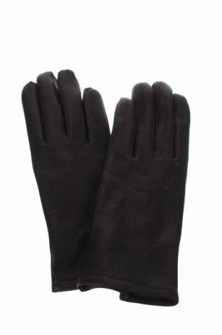Ръкавици, Цвят Черен, Естествена кожа, Цена 21,84лв.
