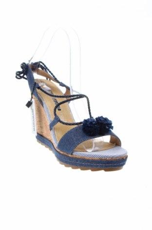 Σανδάλια Maria Mare, Μέγεθος 39, Χρώμα Μπλέ, Δερματίνη, κλωστοϋφαντουργικά προϊόντα, Τιμή 17,64€