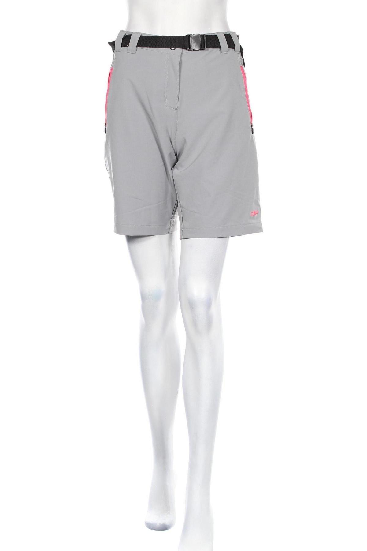 Дамски къс панталон CMP, Размер L, Цвят Сив, 89% полиестер, 11% еластан, Цена 44,25лв.
