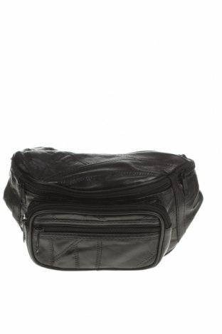 Чанта за кръст, Цвят Черен, Естествена кожа, еко кожа, Цена 34,65лв.