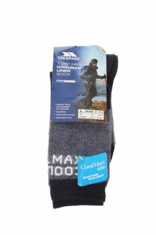 Ponožky Trespass, Velikost L, Barva Šedá, 80% polyester, 17% polyamide, 3% elastan, Cena  325,00Kč
