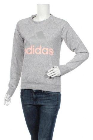 Дамска блуза Adidas, Размер S, Цвят Сив, 52% памук, 48% полиестер, Цена 35,70лв.