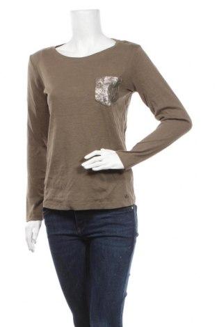 Дамска блуза Ajc, Размер M, Цвят Зелен, Памук, Цена 17,85лв.