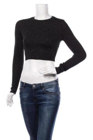 Дамска блуза Amisu, Размер XS, Цвят Черен, 89% полиестер, 7% еластан, 4% метални нишки, Цена 17,85лв.