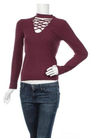 Дамска блуза Amisu, Размер S, Цвят Лилав, 95% вискоза, 5% еластан, Цена 19,95лв.