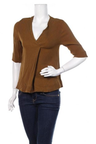 Дамска блуза COS, Размер M, Цвят Кафяв, Купро, Цена 27,00лв.