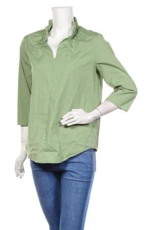 Дамска блуза COS, Размер M, Цвят Зелен, 75% памук, 22% полиамид, 3% еластан, Цена 27,00лв.