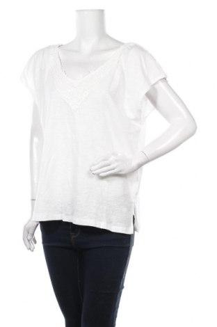 Bluză de femei Dreimaster, Mărime L, Culoare Alb, Bumbac, Preț 76,97 Lei