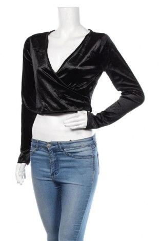 Дамска блуза Garage, Размер L, Цвят Черен, 93% полиестер, 7% еластан, Цена 17,85лв.