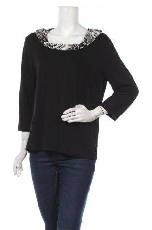 Дамска блуза Gelco, Размер L, Цвят Черен, 95% вискоза, 5% еластан, Цена 21,95лв.