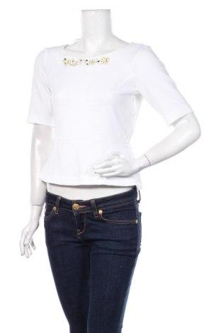 Дамска блуза H&M, Размер M, Цвят Бял, 100% полиестер, Цена 17,25лв.