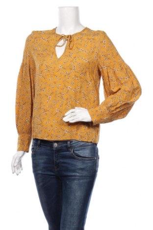 Дамска блуза H&M, Размер S, Цвят Жълт, Вискоза, Цена 18,90лв.