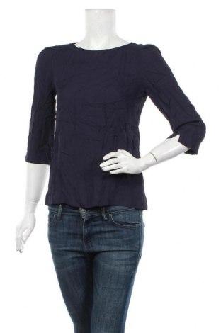 Дамска блуза Massimo Dutti, Размер S, Цвят Син, Вискоза, Цена 33,60лв.