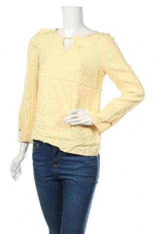 Дамска блуза Massimo Dutti, Размер M, Цвят Жълт, 67% лиосел, 33% памук, Цена 35,70лв.