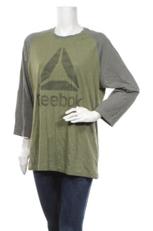 Bluză de femei Reebok, Mărime L, Culoare Verde, 50% poliester, 25% viscoză, 25% bumbac, Preț 59,68 Lei