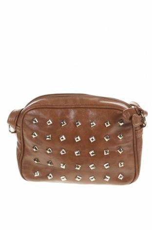 Дамска чанта, Цвят Кафяв, Еко кожа, Цена 23,10лв.