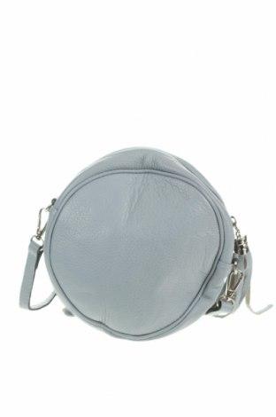 Дамска чанта, Цвят Сив, Естествена кожа, Цена 37,80лв.