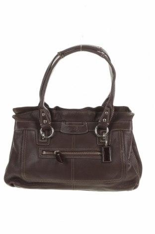 Дамска чанта Coach, Цвят Кафяв, Естествена кожа, Цена 100,80лв.