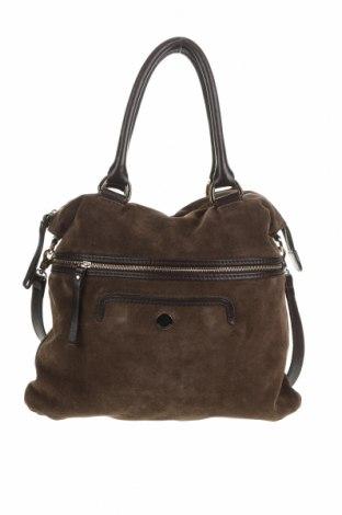 Γυναικεία τσάντα Coccinelle, Χρώμα Πράσινο, Φυσικό σουέτ, γνήσιο δέρμα, Τιμή 133,61€