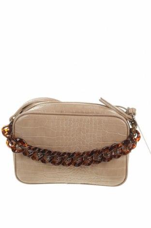 Γυναικεία τσάντα Pieces, Χρώμα  Μπέζ, Δερματίνη, Τιμή 17,63€