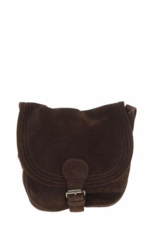 Дамска чанта Zara, Цвят Кафяв, Естествен велур, Цена 43,50лв.